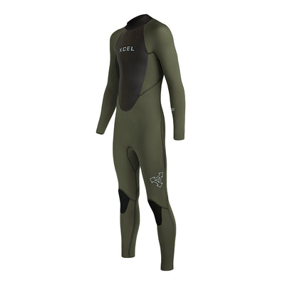 YOUTH AXIS BACK ZIP 4/3MM FULLSUIT FA19