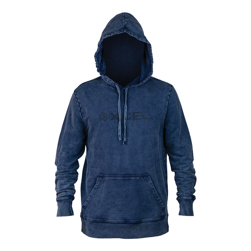 MENS HOODED PULL OVER FLEECE