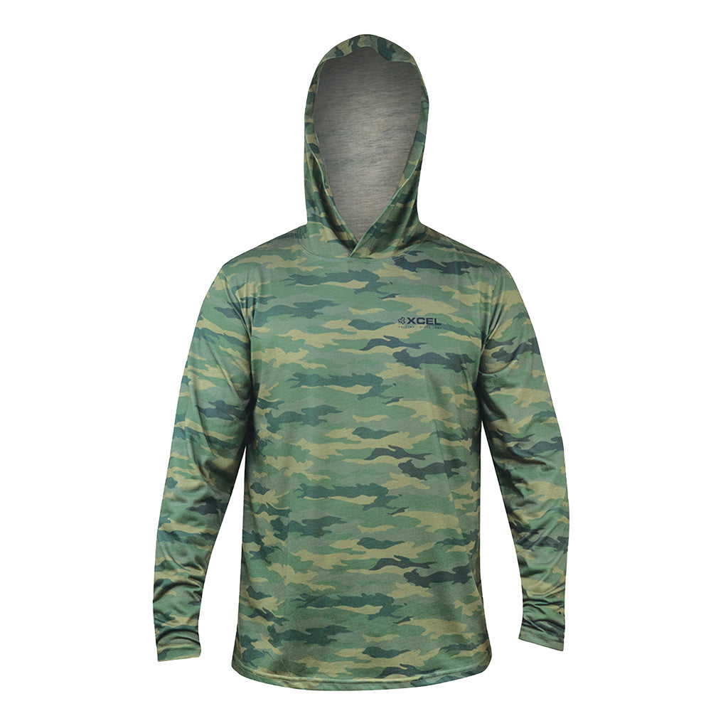 MENS THREADX HAWAIIAN HOODED CAMO LONG SLEEVE UV SP21