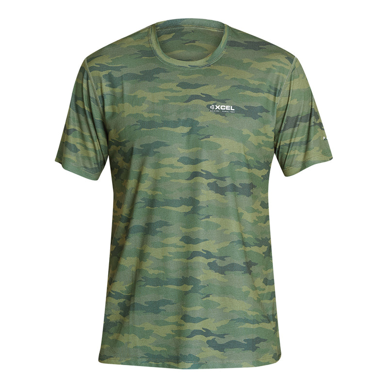 MENS THREADX HAWAIIAN CAMO SHORT SLEEVE UV SP21