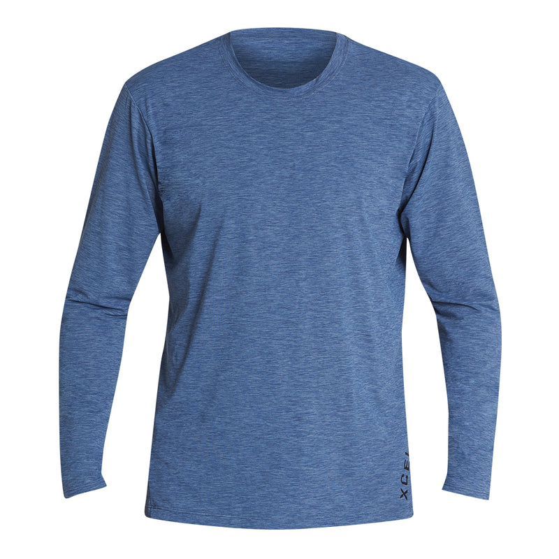 MENS HEATHERED VENTX SOLID LONG SLEEVE UV SP20