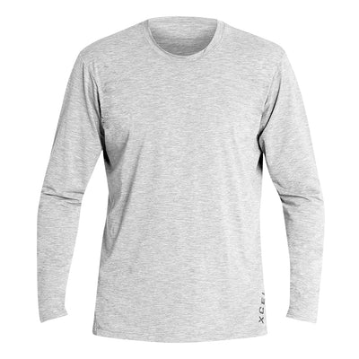 MENS HEATHERED VENTX SOLID LONG SLEEVE UV SP21