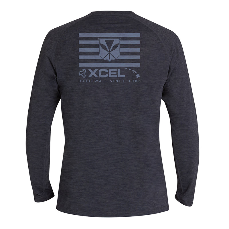 MENS HEATHERED VENTX KANAKA MAOLI LONG SLEEVE UV SP20