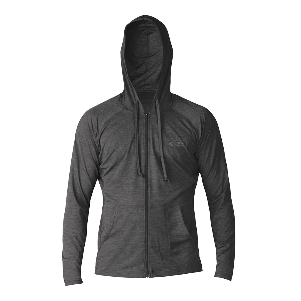 MENS HEATHERED VENTX FRONT ZIP HOODIE UV SP20