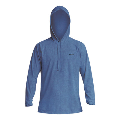MENS HEATHERED VENTX HOODED PULLOVER UV SP20