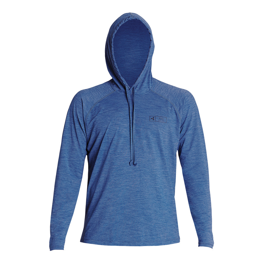 MENS HEATHERED VENTX HOODED PULLOVER UV SP19