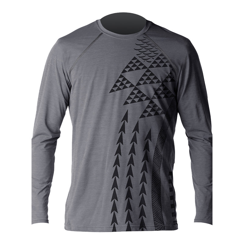 MENS HEATHERED VENTX HALEIWA LONG SLEEVE UV SP21