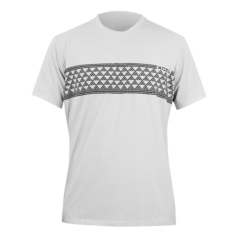 MENS HEATHERED VENTX TRIBAL TAPA SHORT SLEEVE UV SP21
