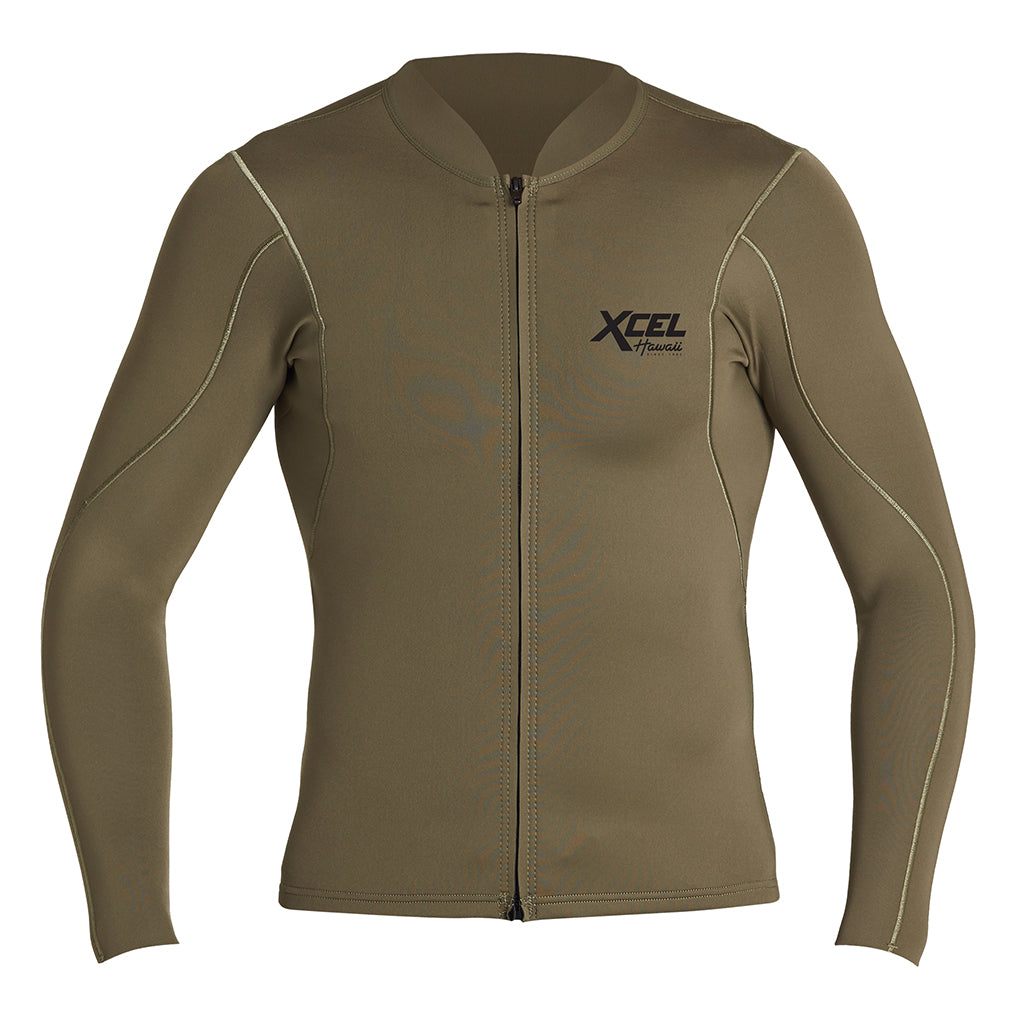 MENS AXIS L/S FRONT ZIP 1/0.5MM JACKET SP20