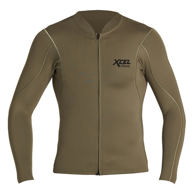 MENS AXIS LONG SLEEVE FRONT ZIP 1/0.5MM JACKET SP21