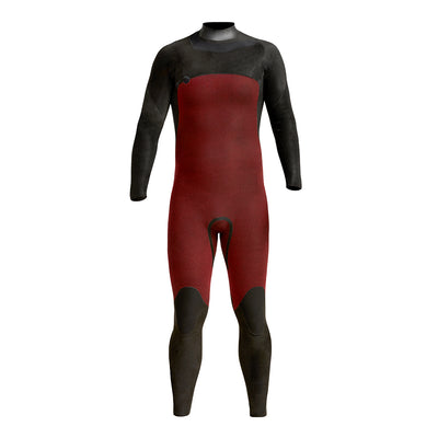 Front view inside of wetsuit