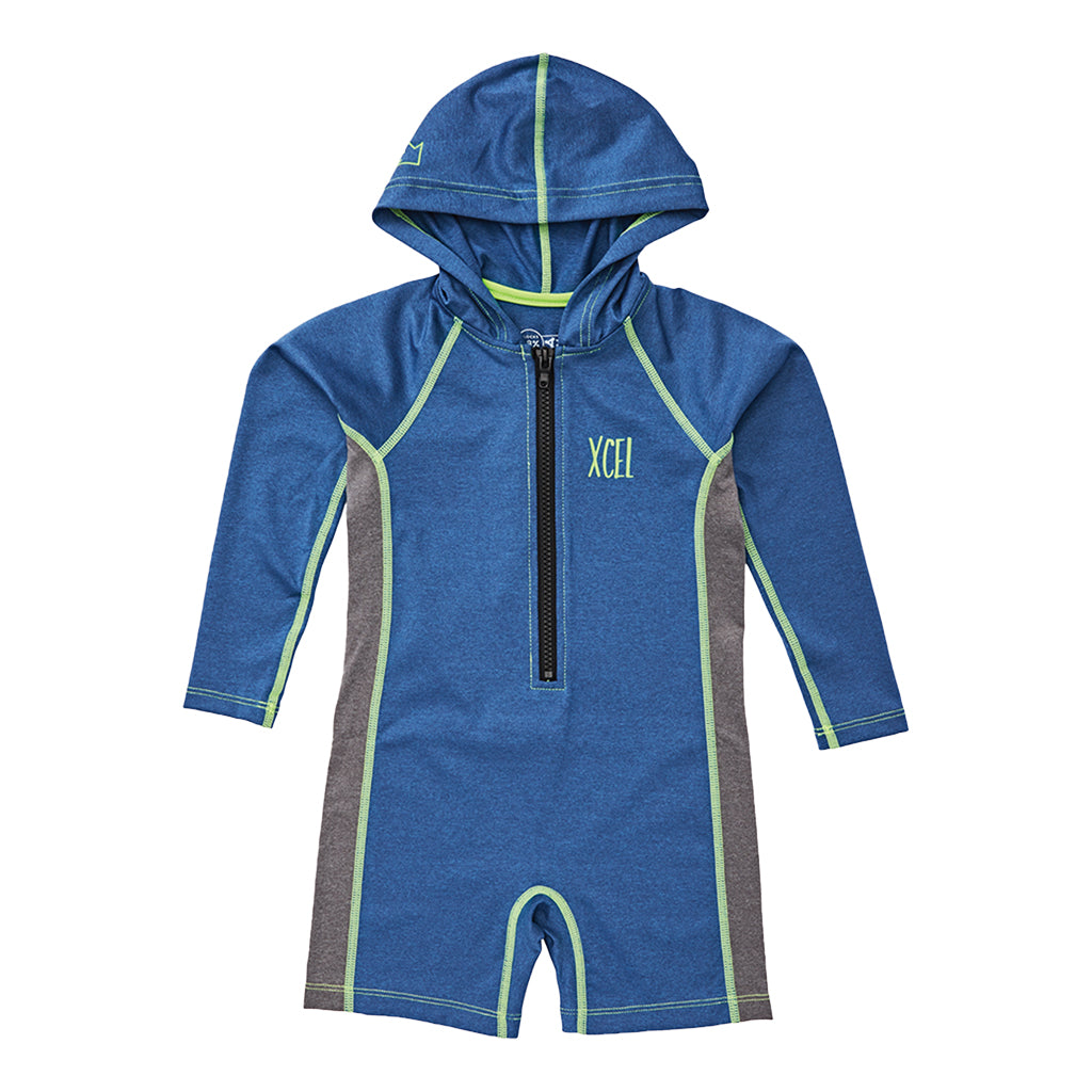 TODDLER UNISEX LONG SLEEVE FRONT ZIP HOODED UV SPRING WETSUIT SP20