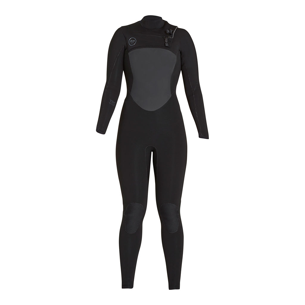 WOMENS 4/3MM DRYLOCK TDC BLACK FULLSUIT FA17