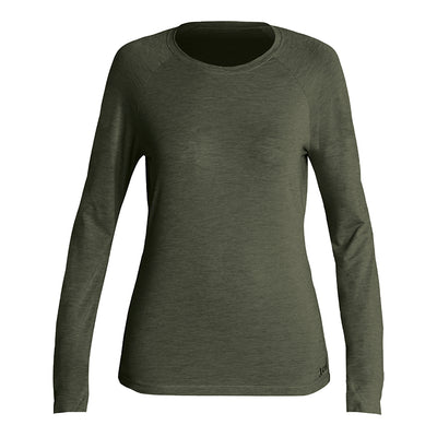 WOMENS HEATHERED VENTX SOLID LONG SLEEVE UV SP20