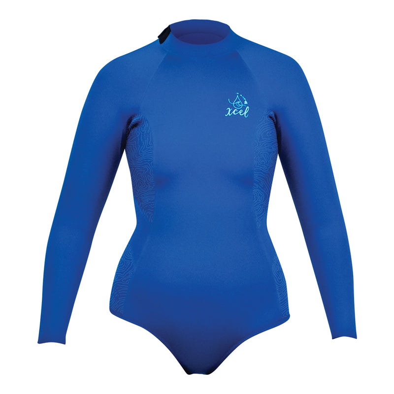WOMENS WATER INSPIRED AXIS LONG SLEEVE 2MM BIKINI CUT SPRING WETSUIT SP21