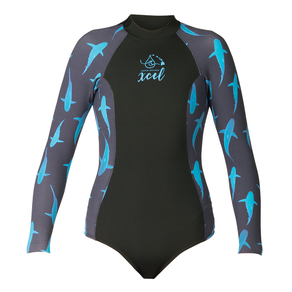 WOMENS WATER INSPIRED AXIS LONG SLEEVE BACK ZIP 2MM SPRING WETSUIT SP21