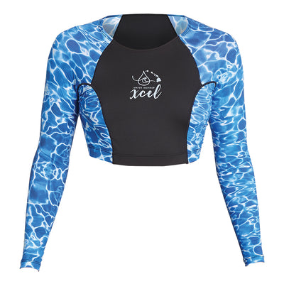 WOMENS WATER INSPIRED 8OZ LONG SLEEVE CROP TOP UV SP20