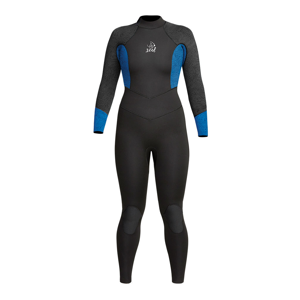 WOMENS WATER INSPIRED DIVE AXIS 4/3MM FULL WETSUIT SP21