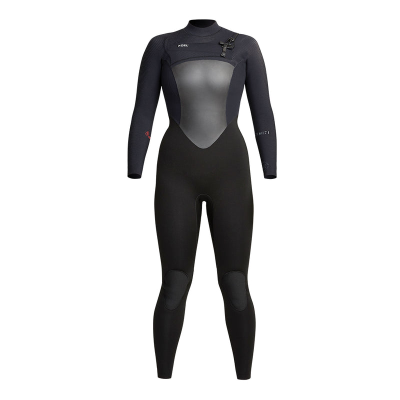Womens full wetsuit front view black