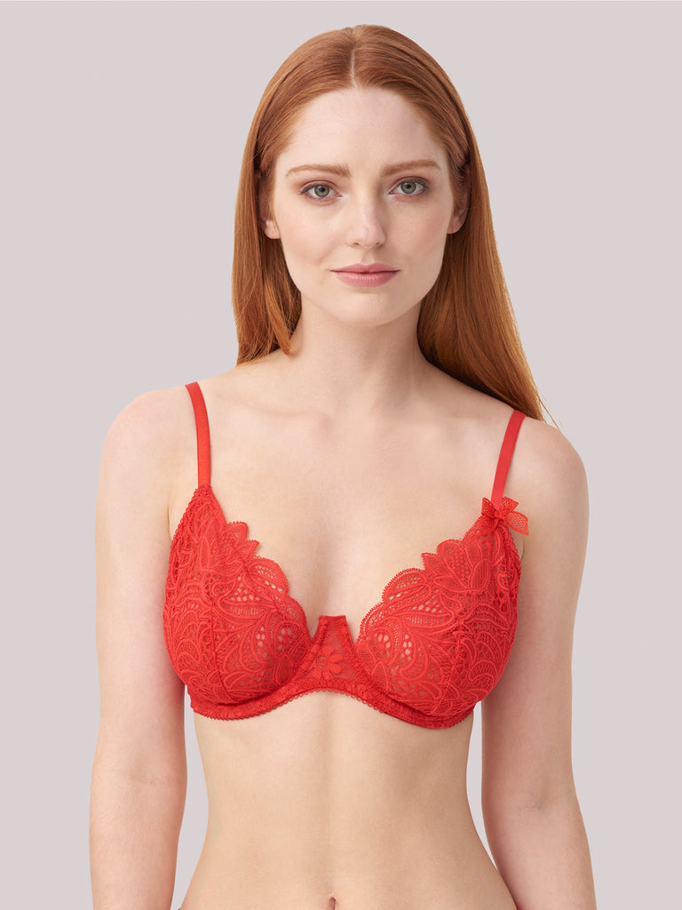 Charlie Underwired Bra in Red