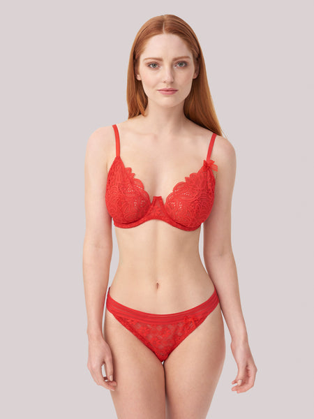 Charlie Brazilian Brief in Red