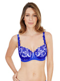 Fiore Full Cup Bra Cobalt and Ivory