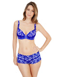 Fiore Short Cobalt Ivory Cobalt and Ivory