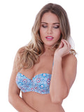 Geo Star Underwired Bikini Top Red/Blue