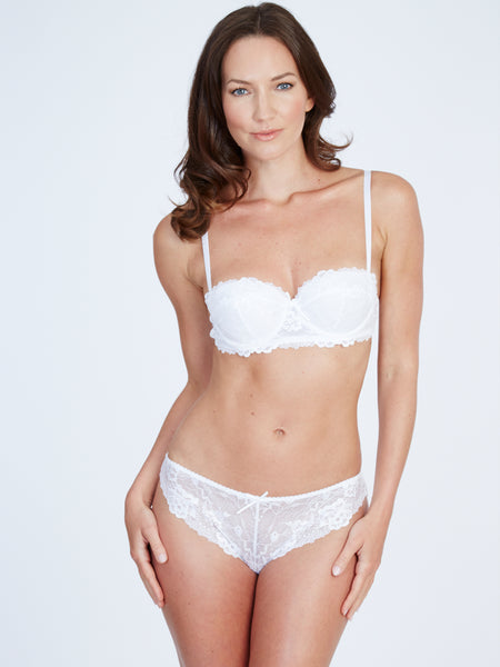Maddie White Galloon Brief