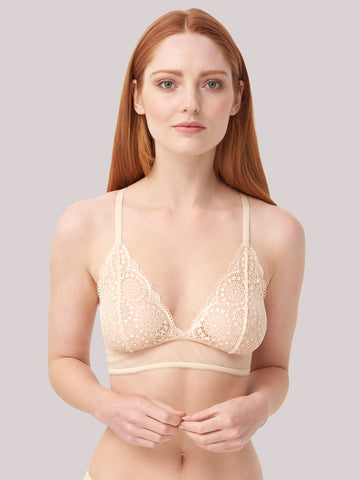Sophia Triangle Bra in Gold