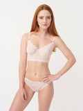 Tia Long Line Bra in Bare