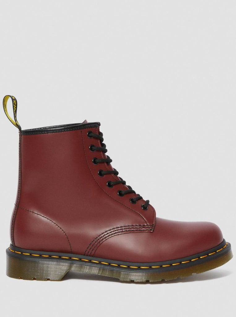 1460 8-EYE SMOOTH BOOT (UNISEX) - CHERRY RED