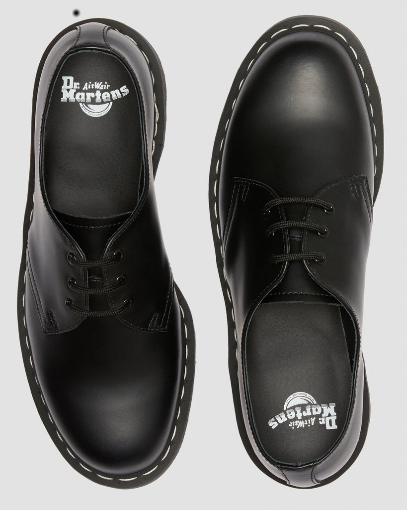 1461 CONTRAST STITCH LEATHER OXFORD (UNISEX) - BLACK