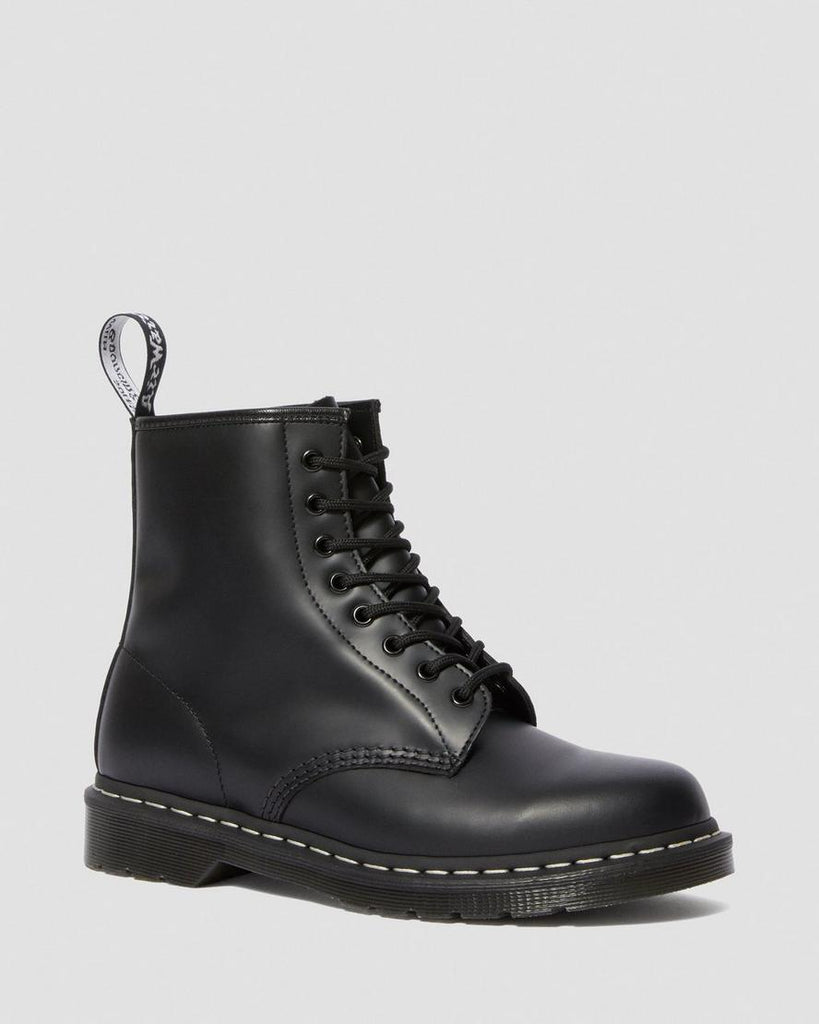 1460 CONTRAST STITCH SMOOTH LEATHER BOOTS  (UNISEX) - BLACK