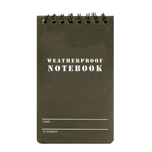 "3""x5"" MILITARY STYLE WEATHERPROOF NOTEBOOK"
