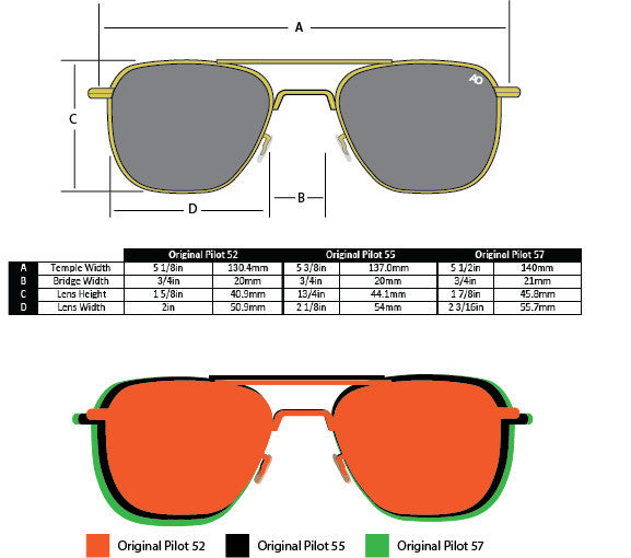 AO EYEWEAR ORIGINAL PILOT SUNGLASSES
