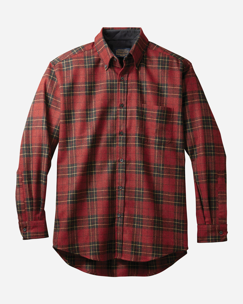 MEN'S FITTED FIRESIDE SHIRT - BRODIE RED TARTAN
