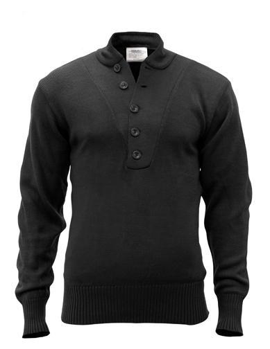 G.I. Style 5-Button Acrylic Sweater