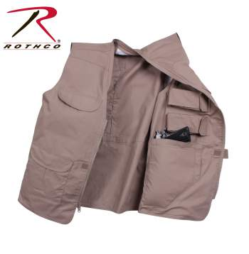 ROTHCO LIGHTWEIGHT PROFESSIONAL CONCEALED CARRY VEST - BLACK
