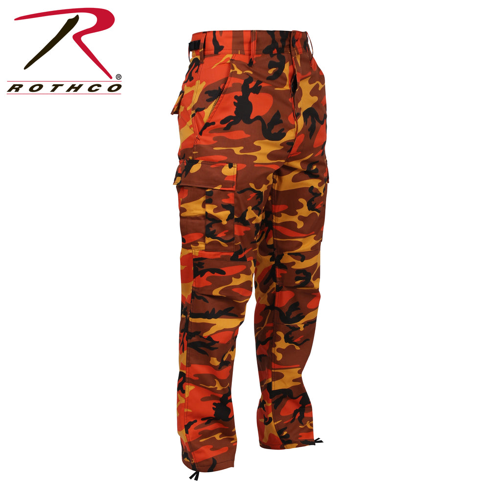 MEN'S COLOR CAMO BDU PANT - SAVAGE ORANGE CAMO