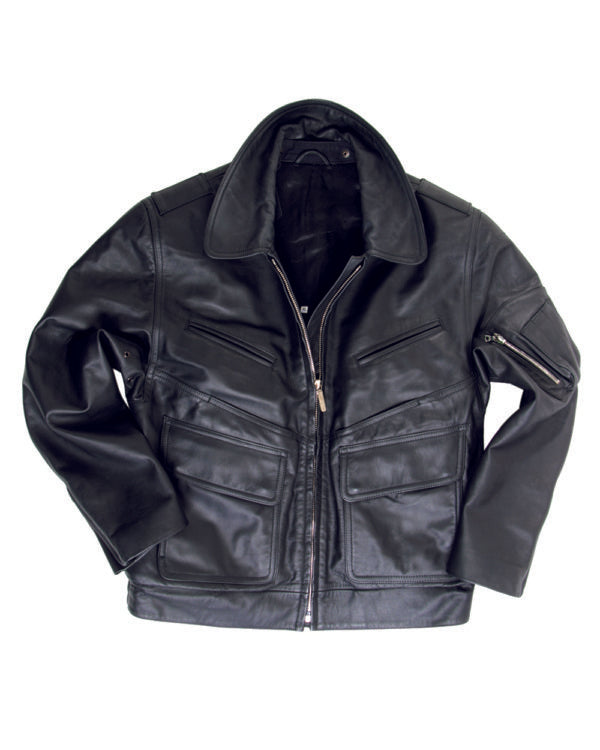 BGS LADIES BLACK LEATHER JACKET