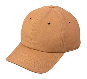 DUCK BROWN CANVAS BASEBALL CAP WITH FLEECE LINING