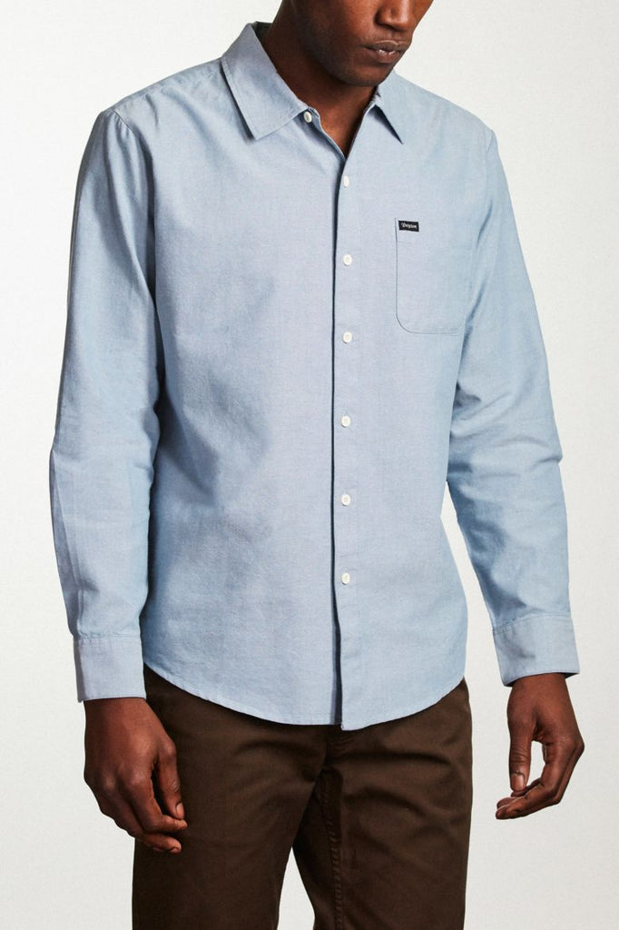 MEN'S CHARTER OXFORD L/S WOVEN - LIGHT BLUE CHAMBRAY