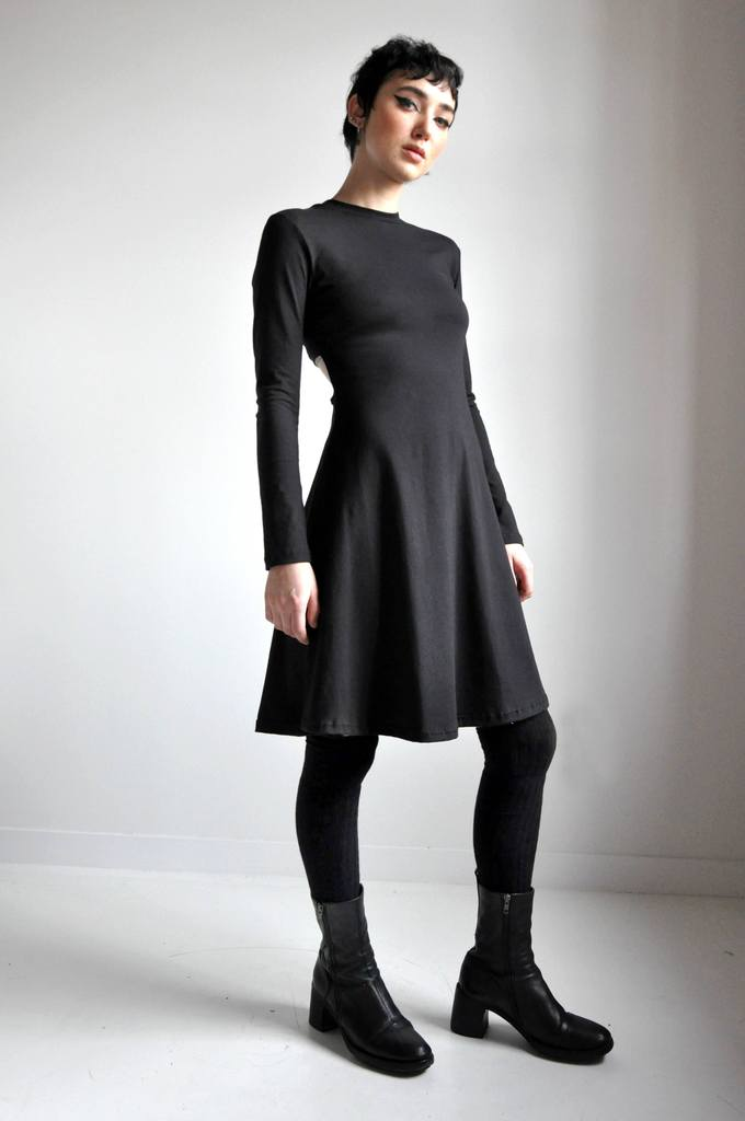 WOMEN'S DINA CUT OUT DRESS - BLACK