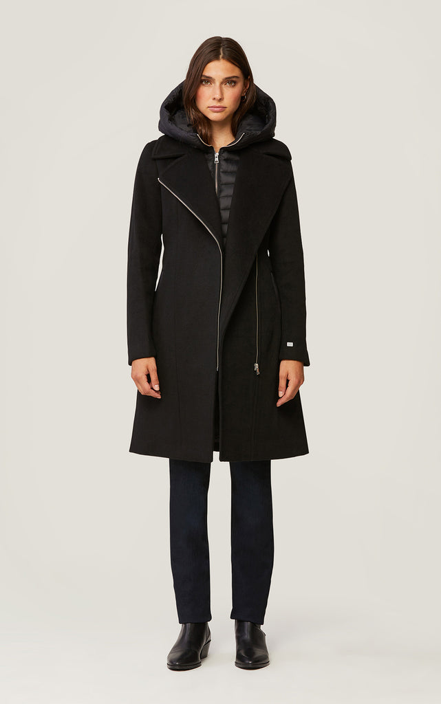 WOMEN'S PERLE COAT - BLACK