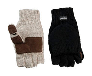 THINSULATE RAGG WOOL FLIP MITTENS
