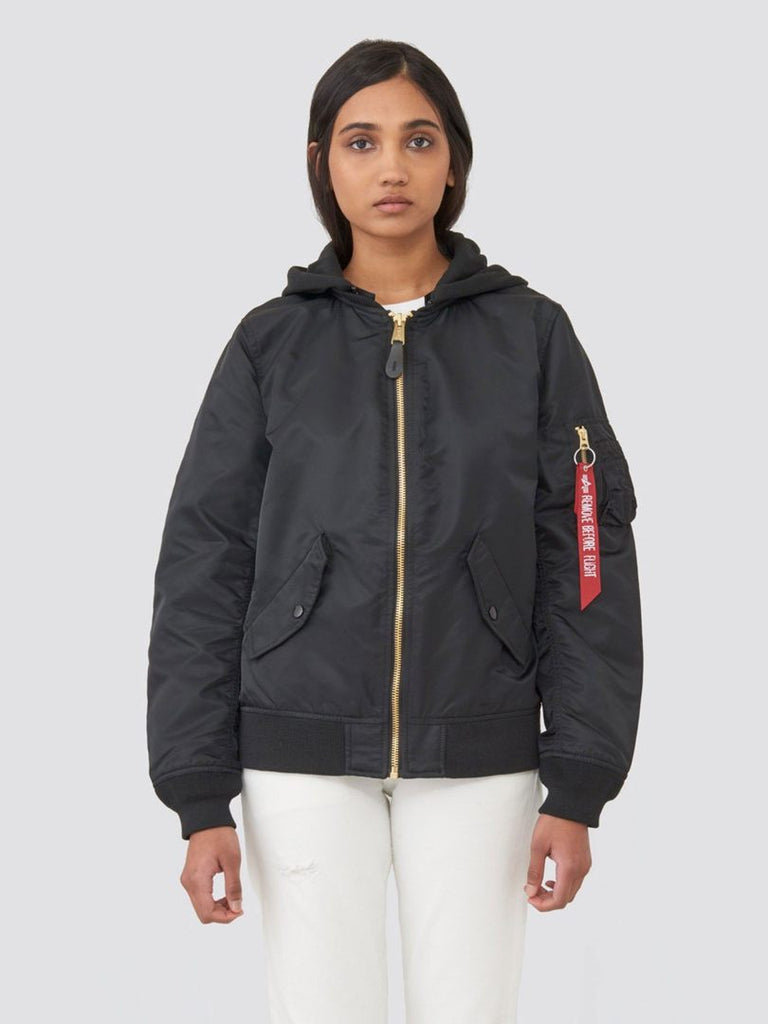 WOMEN'S L-2B NATUS BOMBER JACKET - BLACK