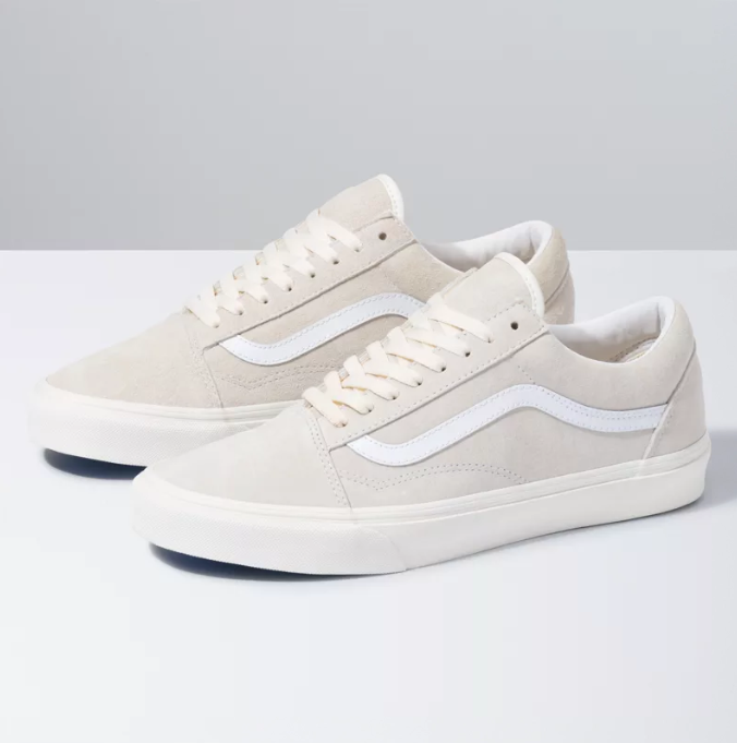 MEN'S PIG SUEDE OLD SKOOL  - MARSHMALLOW/TRUE WHITE