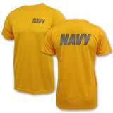 SOFFE OFFICIAL NAVY PT TEE - GOLD