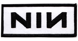 NINE INCH NAILS LOGO ON WHITE PATCH